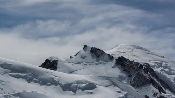 Thumbnail for mont blanc alps france mountains snow peaks ski timelapse