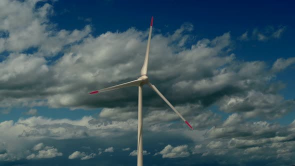 Thumbnail for Modern Wind Turbine Producing Electricity Power