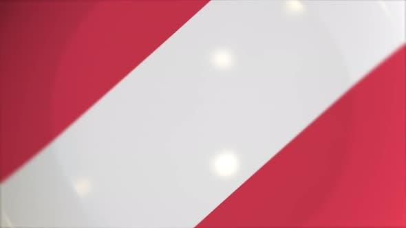 Schild mit Flagge von Österreich