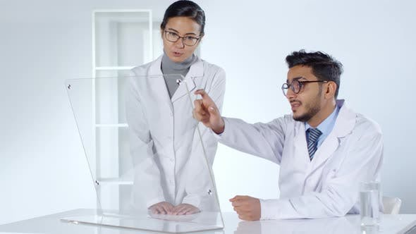 Thumbnail for Scientists Using Transparent AR Screen