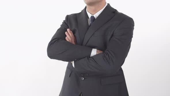 Unrecognizable Businessman