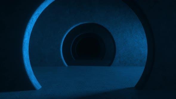 Thumbnail for Abstract illuminated empty corridor interior