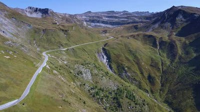 Scenery of the Grossglockner High Alpine Road in Austria
