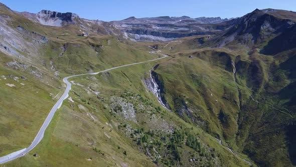 Scenery of the Grossglockner High Alpine Road in Austria