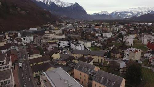 Aerial view of Vaduz