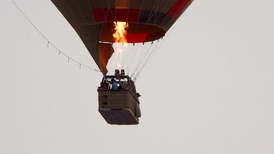Hot Air Balloon Flying in Sky