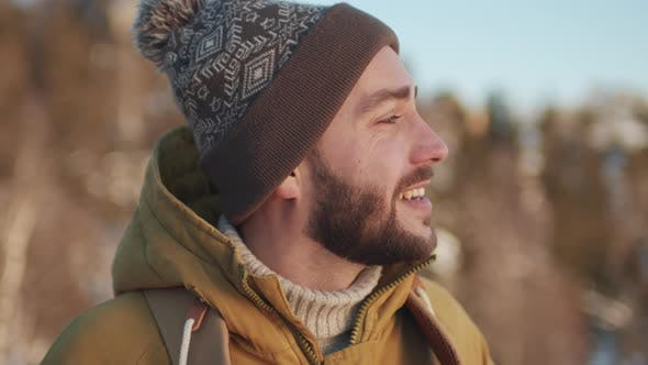 Thumbnail for Close-Up Of Male Tourist In Winter