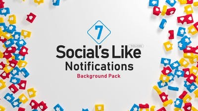 Socials Like Notifications Background Pack
