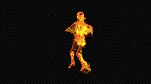 Fiery Skeleton Pop Dance