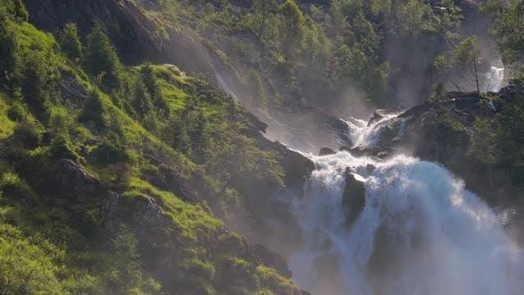 Thumbnail for Latefossen Waterfall Odda Norway
