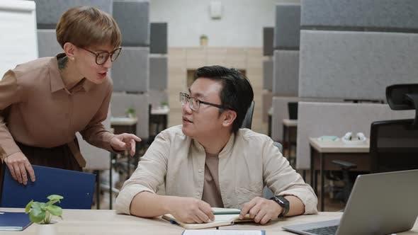 Thumbnail for Asian Businessman Having Online Business Meeting