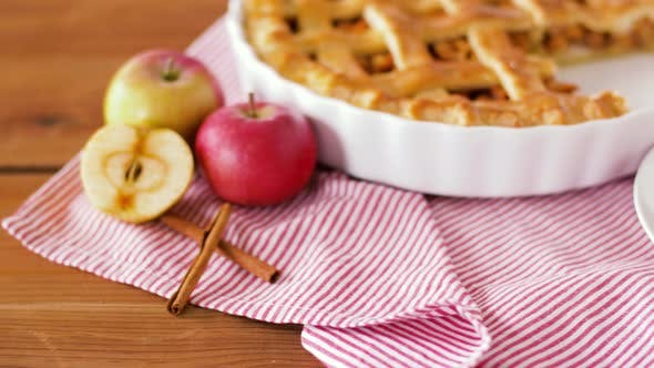 Thumbnail for Close Up of Apple Pie with Ice Cream on Plate 18
