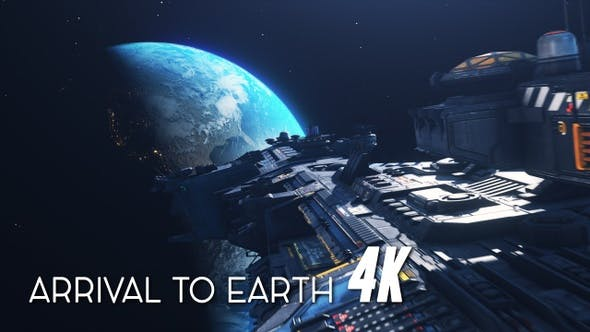 Thumbnail for Space Ship Arrival to Earth 4K