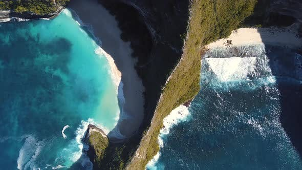 Thumbnail for Bali, Indonesia, Aerial View of Kelingking Beach (Manta Bay) in Nusa Penida Island at Sunset