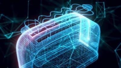 toaster hologram Close up hd