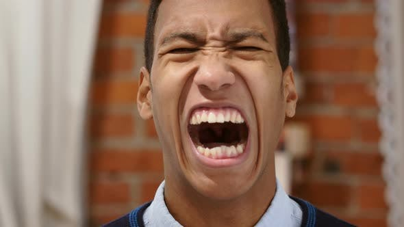 Thumbnail for Angry African Man Screaming Loud, Shouting in Anger
