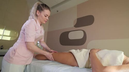 Anti-cellulite Massage in the Spa.