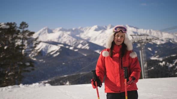 Thumbnail for Girl Skier in a Ski Resort