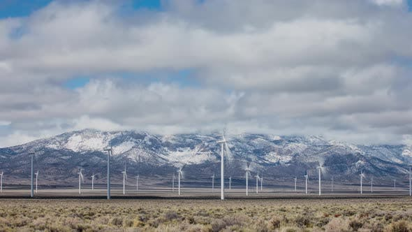 Thumbnail for Time Lapse of Wind Power Generation In California