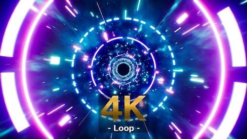 Blinking VJ Light Dimension Tunnel Loop 4K