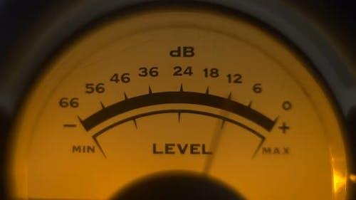 des analogen Volumen-Indikators funktioniert