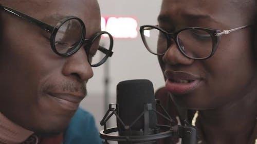 Zwei talentierte afroamerikanische Sänger Aufnahmealbum