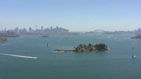 Thumbnail for Yachts and Boats in Sydney Harbor in the Summer