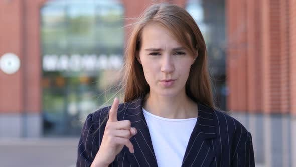 Thumbnail for Angry Yelling Businesswoman Reacting to Problem at Work