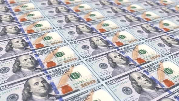 Thumbnail for New One Hundred Dollar Slide Banknotes Looped 4K