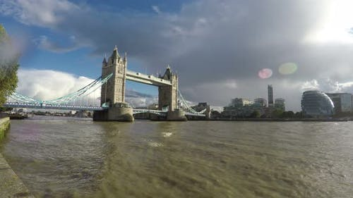 Tower Bridge and Thames River in London