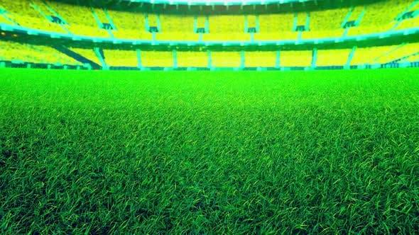Thumbnail for Flying On Grass In Green Stadium 01 4K
