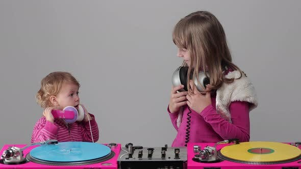 Thumbnail for Two Girls Playing with Record Players