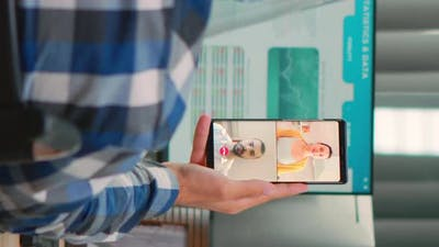 Freelancer with Disability in Having Videocall During Coronavirus