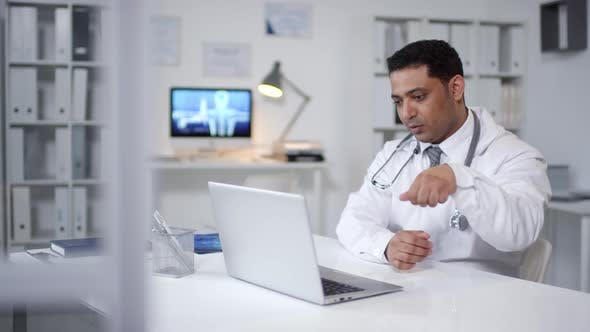 Doctor Working On Video Call