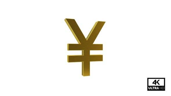 Gold Yen Symbol Seamless Rotate