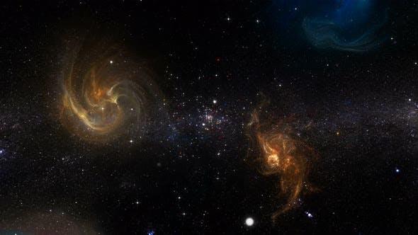 Milkyway With Nebulaes 360 Seamless Loop