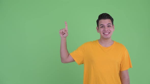 Thumbnail for Happy Young Multi Ethnic Man and Pointing Up and Looking Excited