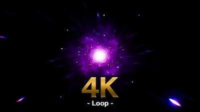 Space Glittering Purple Stars 4K