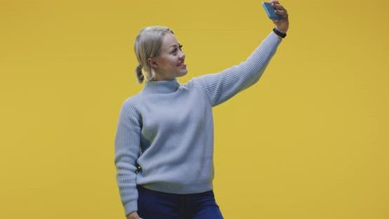 Thumbnail for Young Woman Posing for Selfie