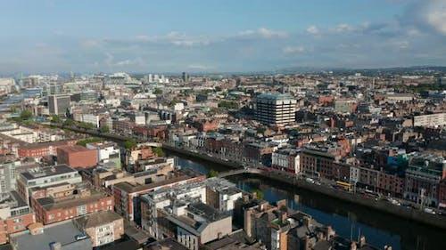 Panorama Curve Footage of City Landscape