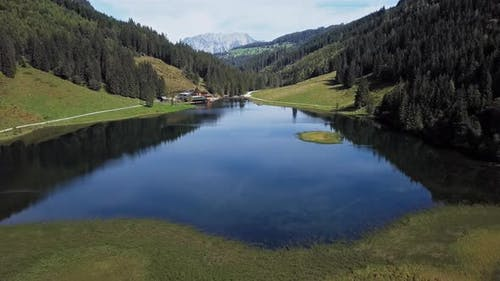 Aerial of Steirischer Bodensee, Austria