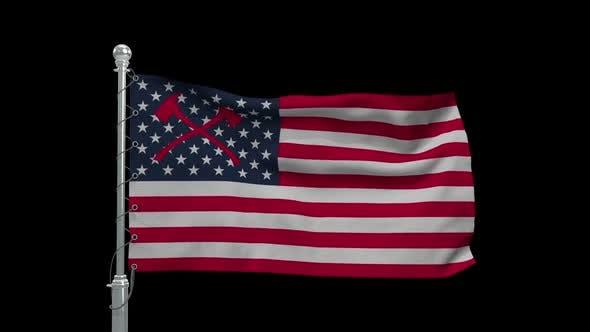 Waving Firemans Flag