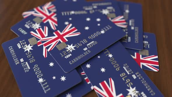Thumbnail for Pile of Credit Cards with Flag of Australia