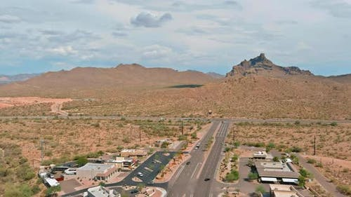Overlooking View of a Small Town a Fountain Hills in the N Beeline Hwy US 87 Interchanges Highways