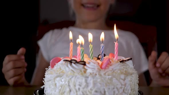 Thumbnail for Six Years Old Cute Little Girl Child Celebration Birthday