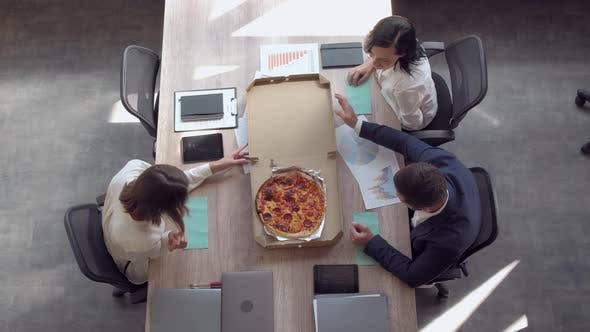 Thumbnail for Friends Taking Slice of Pizza