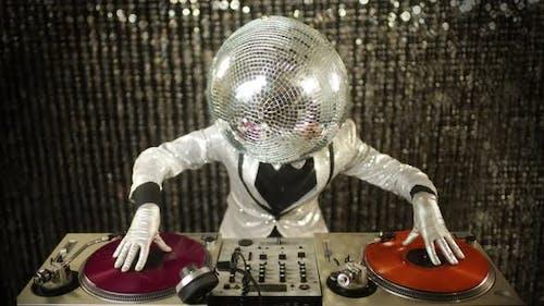 disco mr discoball party music club entertainment dj 4k