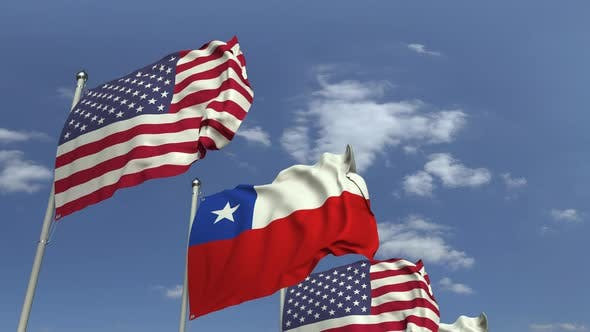 Thumbnail for Many Flags of Chile and the USA