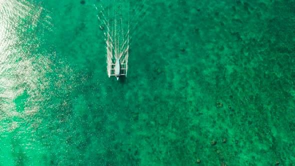 Blue Lagoon Island Boracay Island, Philippines.