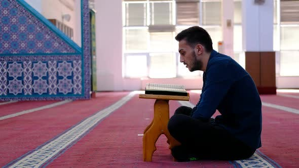 Youth Read Quran Mosque